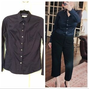BANANA REPUBLIC navy non-iron tailored fit shirt